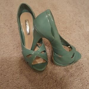 Teal Heels, H by Halston